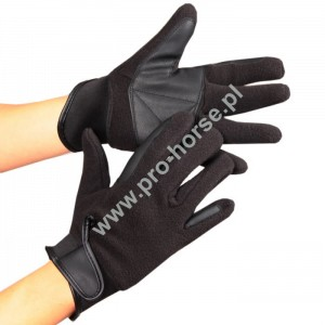 0b3d307807b54f Rękawiczki polarowe z neoprenowym mankietem czarne